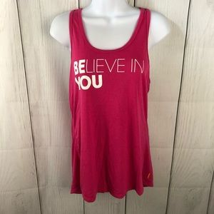 """Lucy.com """"Believe in You"""" Workout tank"""